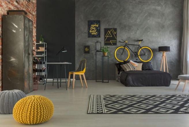 decoração industrial nas cores pretas
