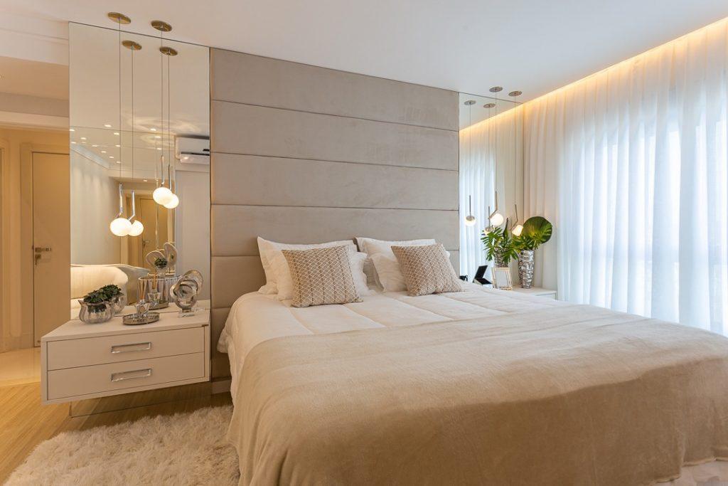 quarto com cores neutras